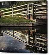 Swing Bridge Reflected Acrylic Print
