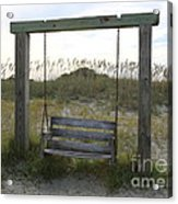 Swing On The Beach Acrylic Print
