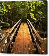 Swinging Bridge Acrylic Print
