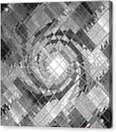 Swirl In A Checkered Mirror V Acrylic Print
