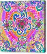 Swirley Heart Variant 1 Acrylic Print