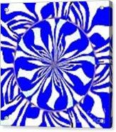 Swirling Blue Zebra Kaleidoscope  Acrylic Print