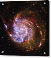 Swirling Red Galaxy Acrylic Print