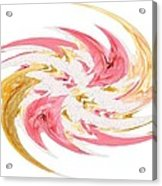 Swirling Roses Abstract  Acrylic Print