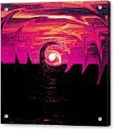 Swirling Sunset In Fuchsia  Acrylic Print