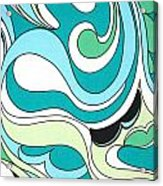 Swirls Blue Green Acrylic Print
