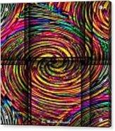 Swirly Bird Acrylic Print by Michelle Ressler