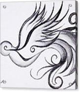 Swirly Sparrow Acrylic Print