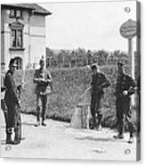 Swiss And German Border Guards Acrylic Print
