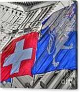 Swiss Flags  Acrylic Print