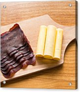 Swiss Food - Dried Meat And Cheese Acrylic Print