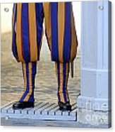 Swiss Guards. Vatican Acrylic Print by Bernard Jaubert