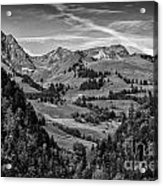 Swiss Valley Bw Acrylic Print
