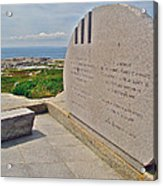 Swissair Flight 111 Of 1998 Memorial In Whalesback-ns Acrylic Print