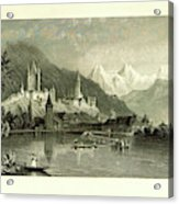 Switzerland. Illustrated In A Series Of Views Taken Acrylic Print