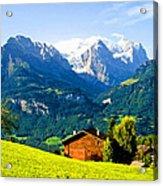 Switzerland Oil On Canvas Acrylic Print