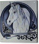 Sword And Horse Acrylic Print