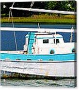 Swordfish Boat Pano Acrylic Print