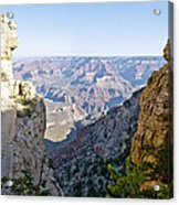 Swtichback Trails On The Steep Walls Of The Grand Canyon Acrylic Print