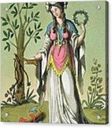 Sybil Of Delphi, No. 15 From Antique Acrylic Print