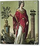 Sybil Of Eritrea With Her Insignia, 1796 Acrylic Print