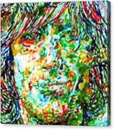 Syd Barrett - Watercolor Portrait Acrylic Print