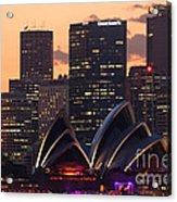 Sydney At Sunset Acrylic Print