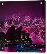 Sydney Fireworks - Purple Acrylic Print