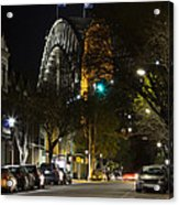 Sydney Harbour Bridge From Fort Street Acrylic Print
