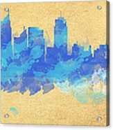 Sydney In Blue Acrylic Print