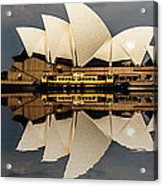 Sydney Opera House With Clouds Acrylic Print