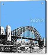 Sydney Skyline 2 Harbor Bridge - Light Blue Acrylic Print