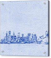 Sydney Skyline Blueprint Acrylic Print by Kaleidoscopik Photography