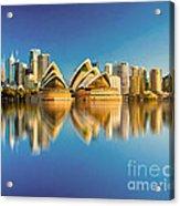Sydney Skyline With Reflection Acrylic Print