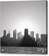 Sydney's Evening B/w Acrylic Print