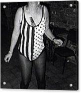 Sylver Short Halloween Tucson Arizona 1990 Black And White Acrylic Print