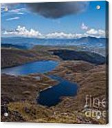 Sylvester Lakes In Kahurangi National Park Nz Acrylic Print
