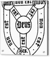 Symbol Holy Trinity Acrylic Print