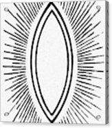 Symbol Vesica Piscis Acrylic Print