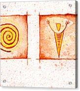 Symbols In Stone Acrylic Print