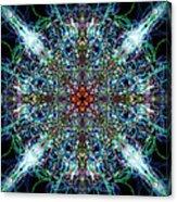 Symmetrical Silk Strands Acrylic Print