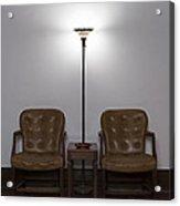 Symmetrical Waiting Room Acrylic Print