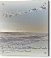 Sympathy Greeting Card - Ocean After Storm Acrylic Print