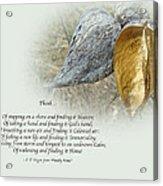 Sympathy Greeting Card - Poem And Milkweed Pods Acrylic Print