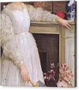 Symphony In White No 2 The Little White Girl Acrylic Print by James Abbott McNeill Whistler