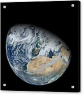 Synthesized View Of Earth Showing North Acrylic Print
