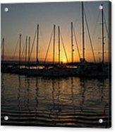 Syracuse Harbor Sunset Acrylic Print