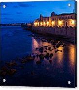 Syracuse Sicily Blue Hour - Ortygia Evening Mood Acrylic Print