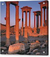 Syria, The Great Tetra Pylon At Palmyra Acrylic Print