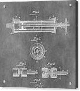 Syringe Patent Design Acrylic Print